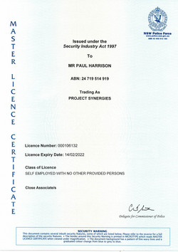 NSW Security Master License