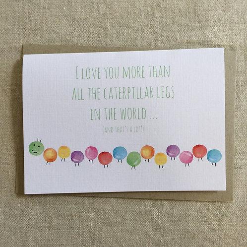 Caterpillar Love Card