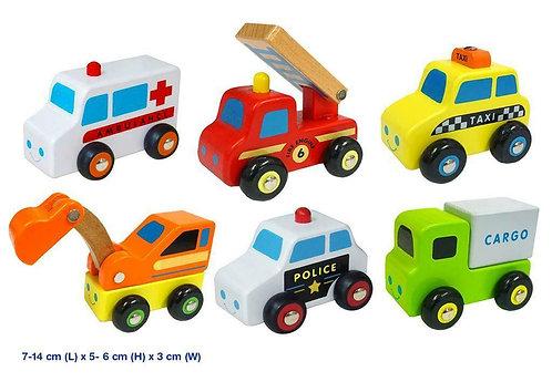 Mini wooden vehicle set - 6