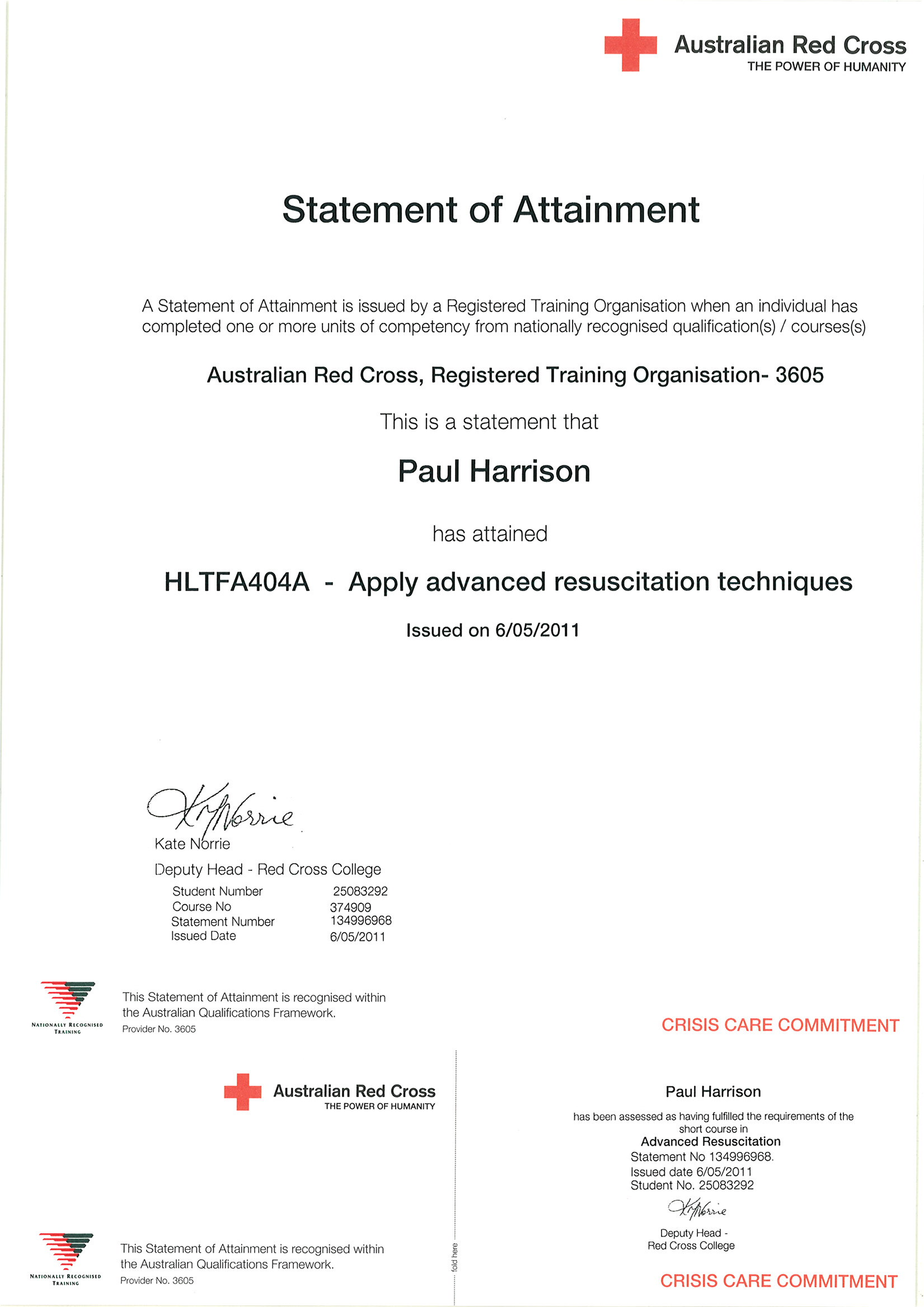 Redcross Cert of Accred ADRES (2016_03_30 02_20_32 UTC)