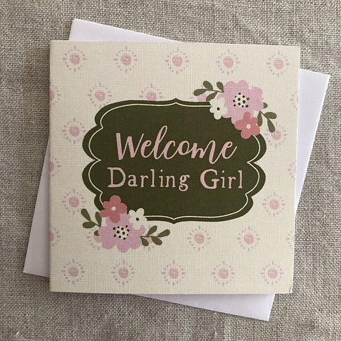 Petit Welcome Darling Girl Card