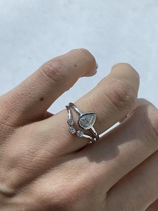 The Pear shape set - טבעת טיפה