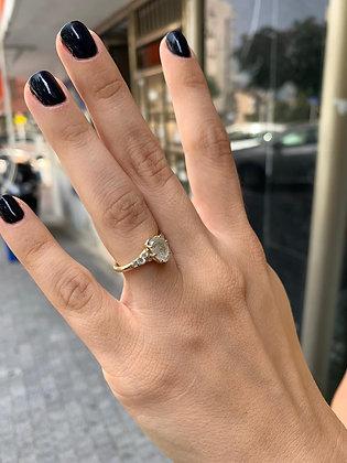 Rough Diamond - טבעת היהלום הגולמי