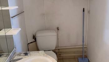 Salle d'eau avant intervention