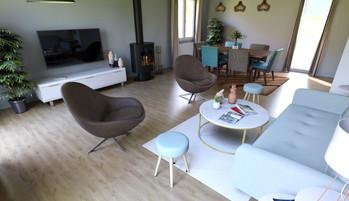 Vue 3D du salon, réalisée par l'Atelier De Nath