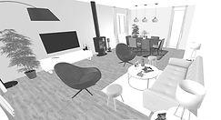 Projection 3D par L'atelier de Nath, Agence de Décoration d'intérieur à Bordeaux et en Gironde 33