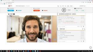 Online-Dolmetschen (Screenshot)