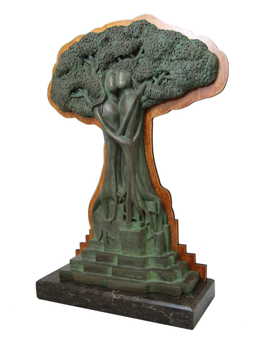 Rooted Together with Wood Engraved Back