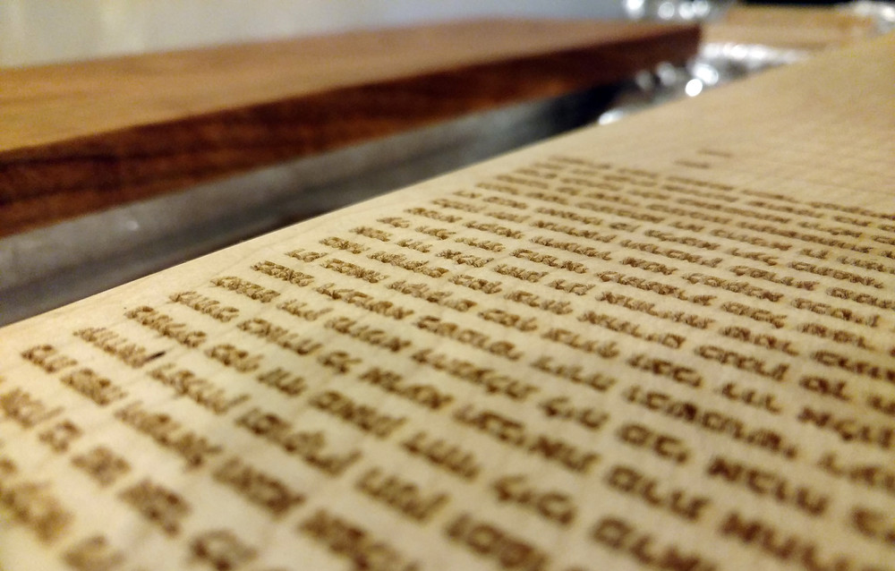 Engraved Timeless Ketubah text - wood options