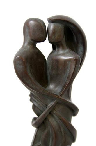 Hearts Entwined - chestnut - Timeless Ketubah Design