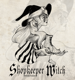 Witchtober 12 : Shopkeeper witch