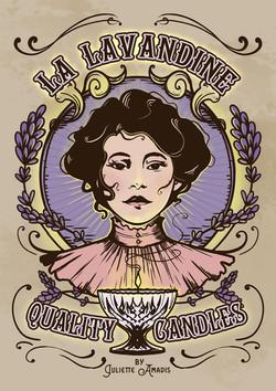 """Illustration pour l'étiquette des bougies """"La Lavandine"""""""