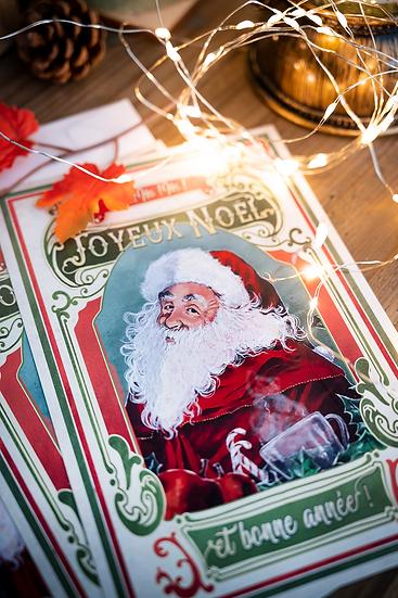 """Carte de voeux """"Père Noël"""""""