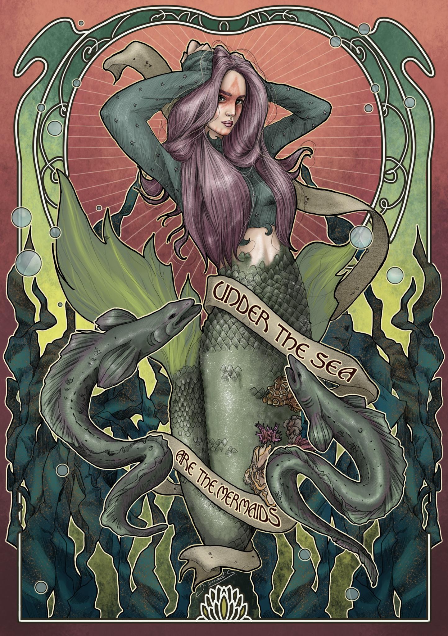 Sirène aux anguilles