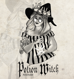Witchtober 14 : Potion witch