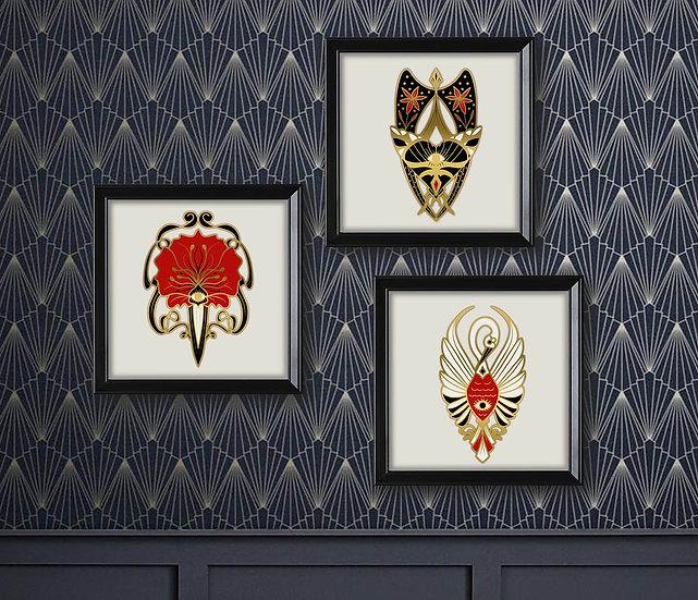 Set de 3 affiches Art Nouveau