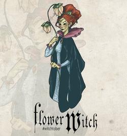 Witchtober 10 -Flower Witch