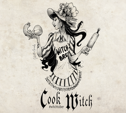 Witchtober : 15 Cook Witch