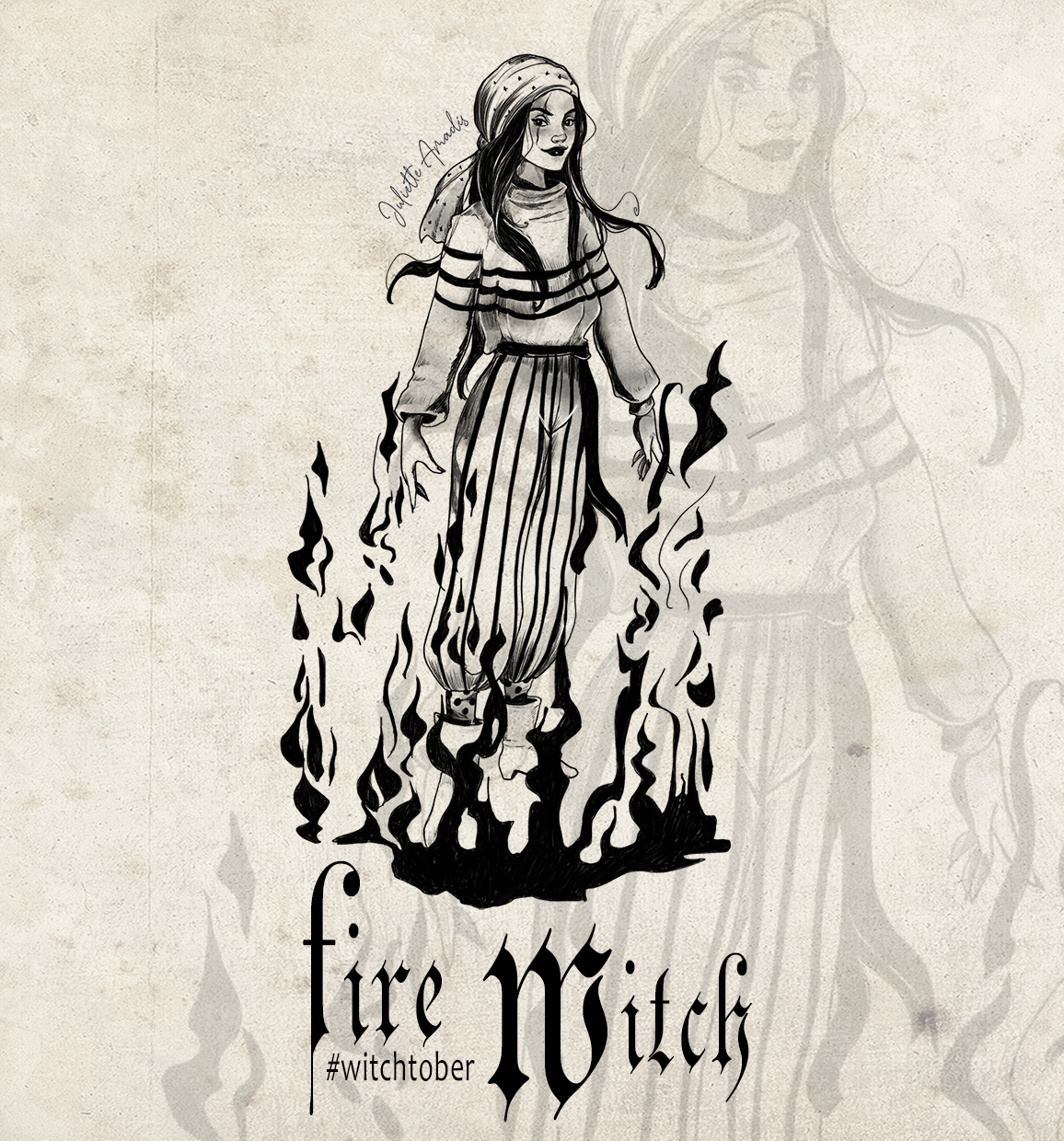 Witchtober 08 - Fire Witch