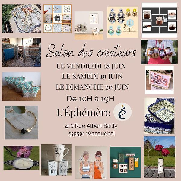 Salon des créateurs, L'éphémère, Wasquehal, Juliette Amadis Illustrations