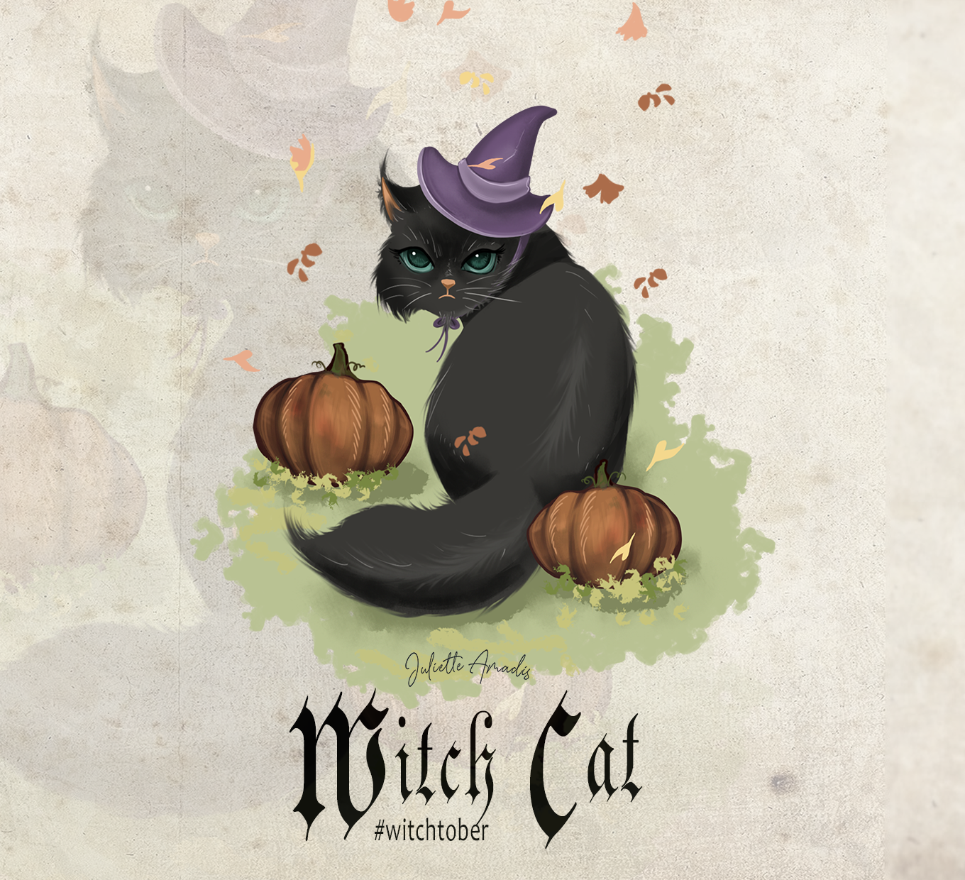 Witchtober 29 : Witch Cat