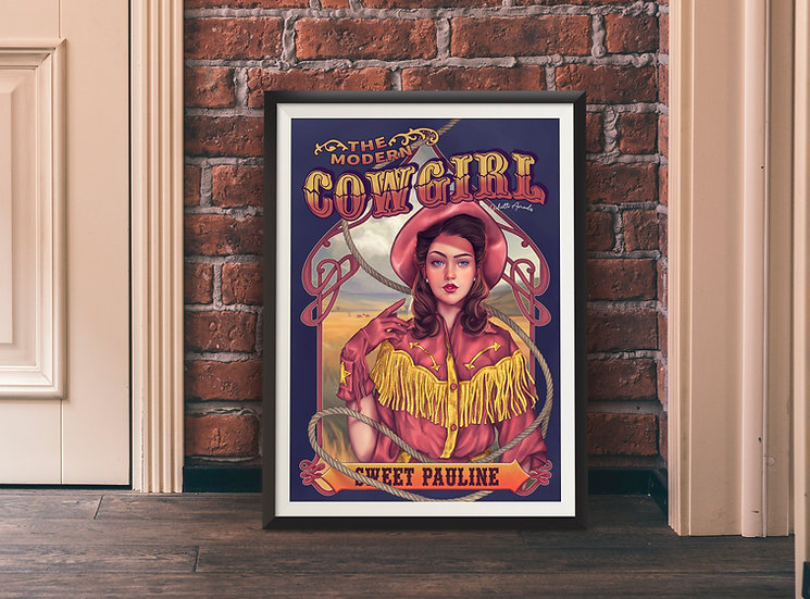 Affiche Modern Cowgirl