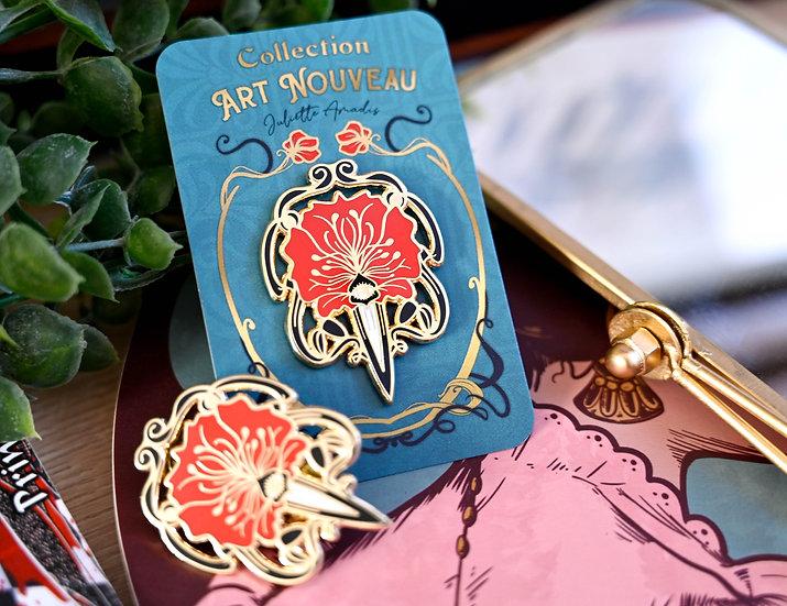 Pin's Art Nouveau - modèle rouge