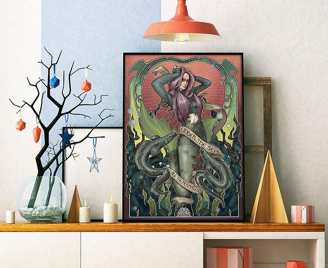 Affiche Sirène aux anguilles