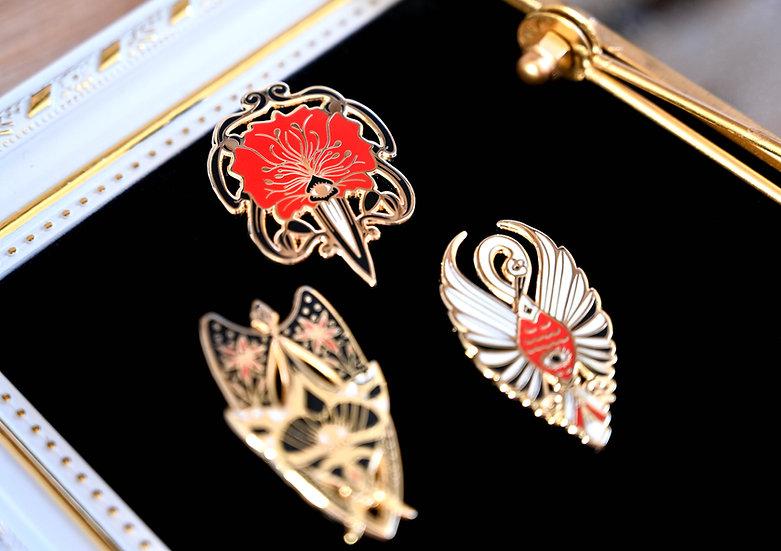 Collection complète Pin's Art Nouveau