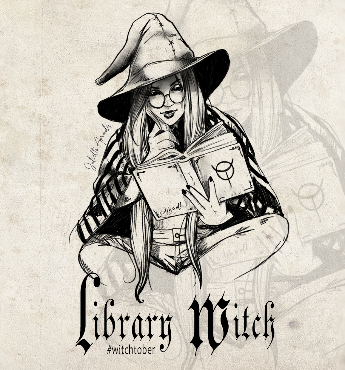 Witchtober 13 : Library Witch