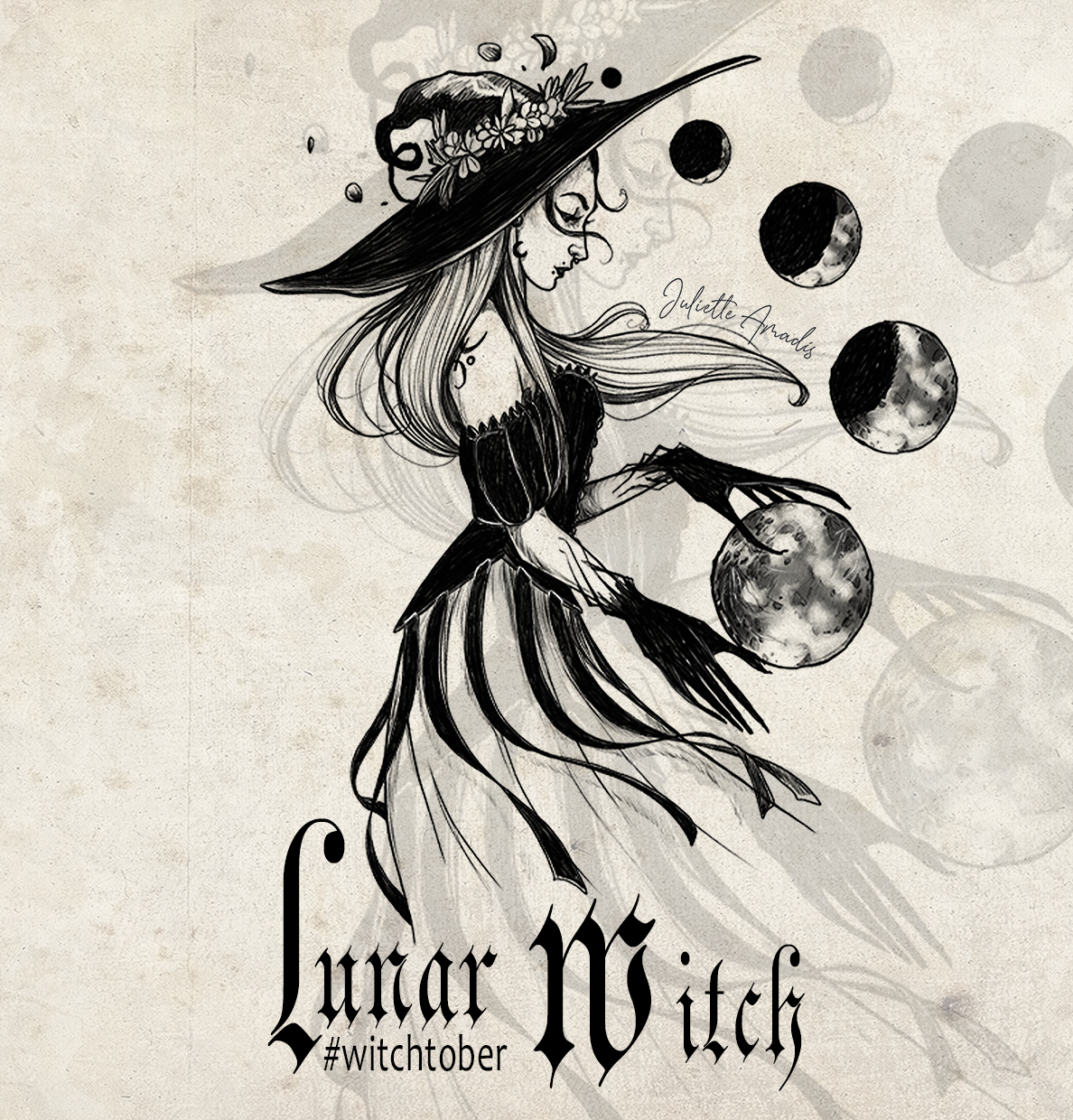 Witchtober 05 - Lunar Witch