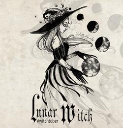Witchtober 05 - Lunar Witch