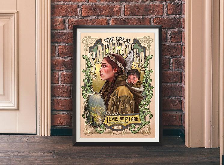 Affiche Sacagawea