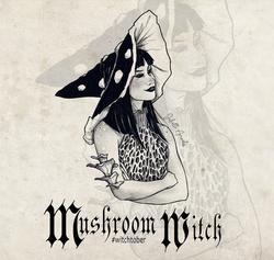 Witchtober 23 : Mushroom Witch