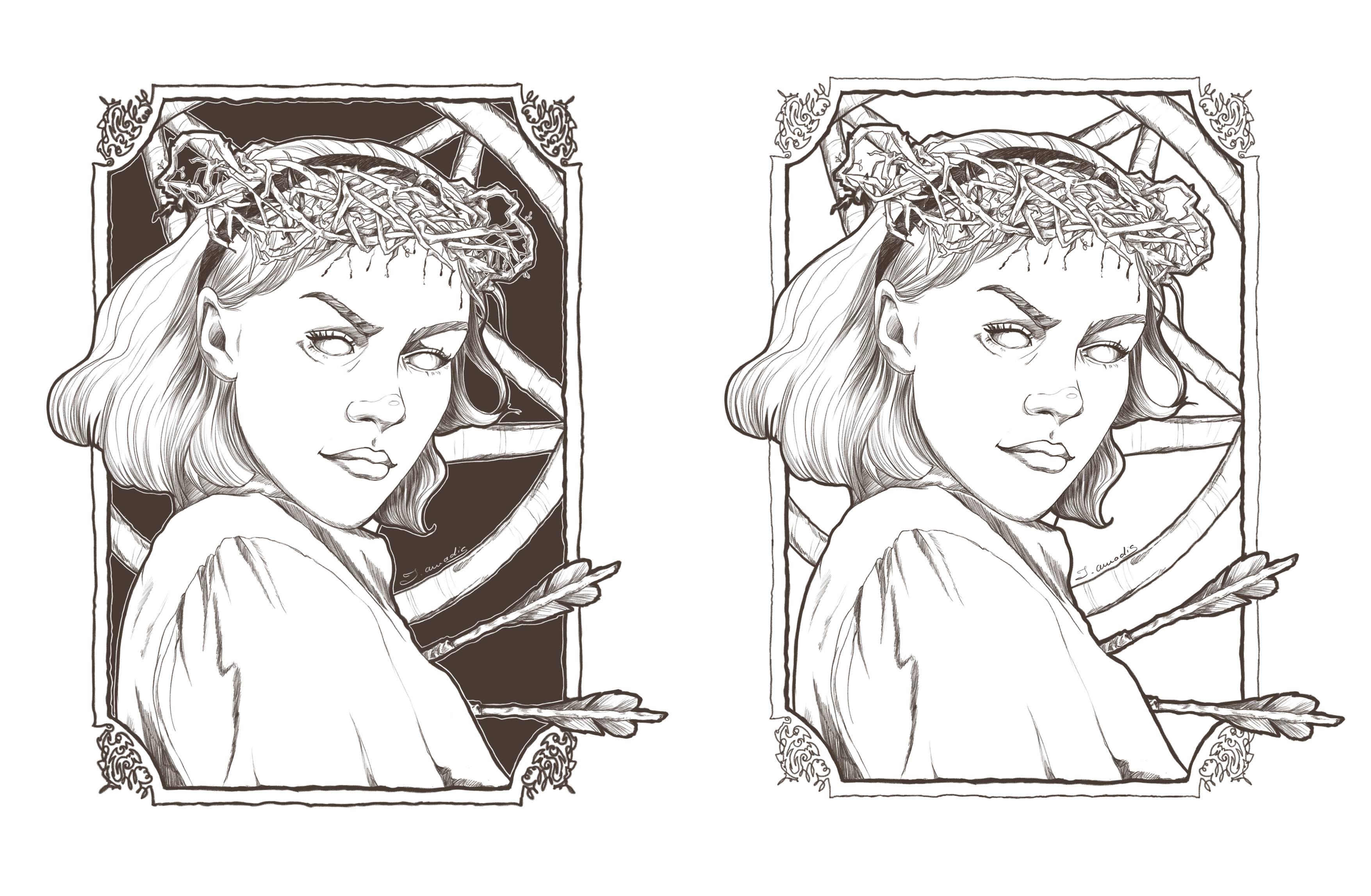 Sabrina (lineart)