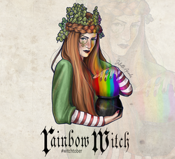 Witchtober 24 : Rainbow Witch