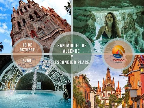 (PUE-OCT) SAN MIGUEL DE ALLENDE Y ESCONDIDO PLACE