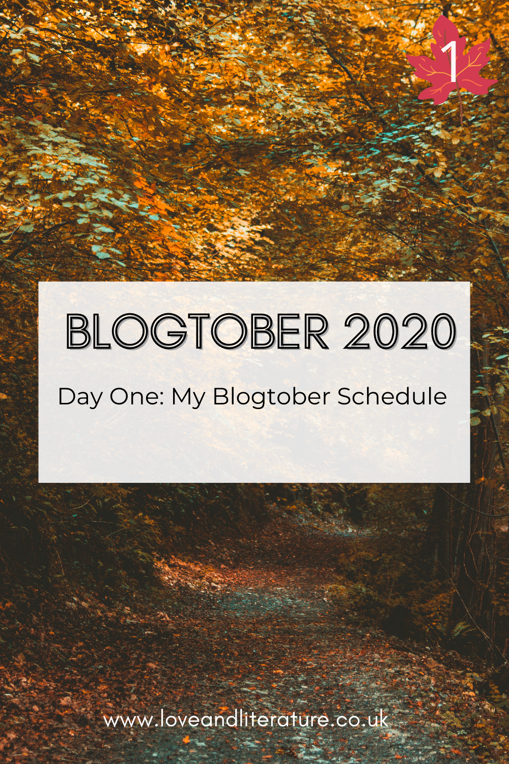 Blogtober Day One: My Blogtober Schedule