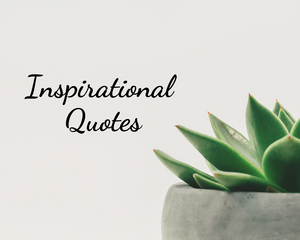 Plant with text 'Inspirational Quotes'