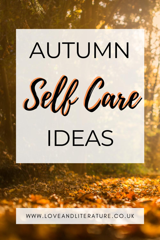 Autumn Self Care Ideas Pin