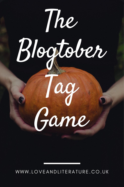 The Blogtober Tag Game Pin
