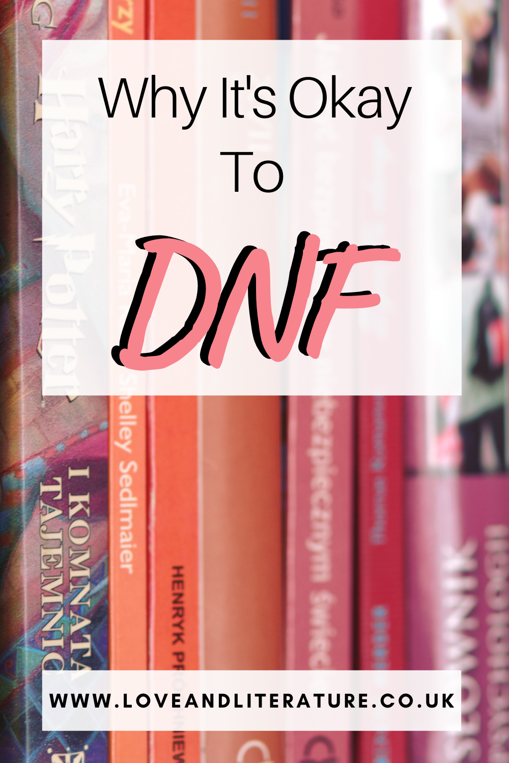 Why It's Okay to DNF Pin