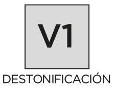 Destonificación V1 uniforme Prosein - La variación de tono destonificación es inherente a todos los productos cerámicos.