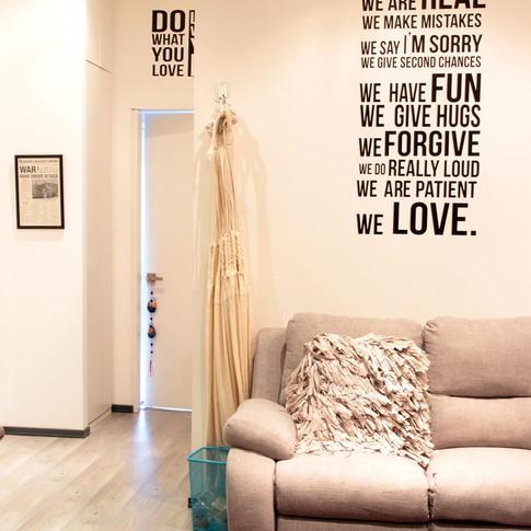 Remodelación integral Apartamento 104 Sala de tv