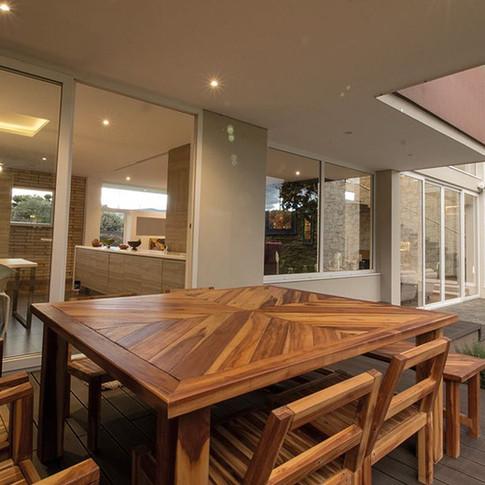 Diseño y construcción Casa Chía Terraza