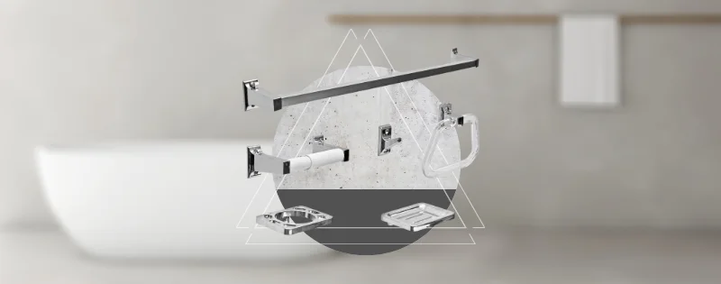 Accesorios de baño para estilo industrial