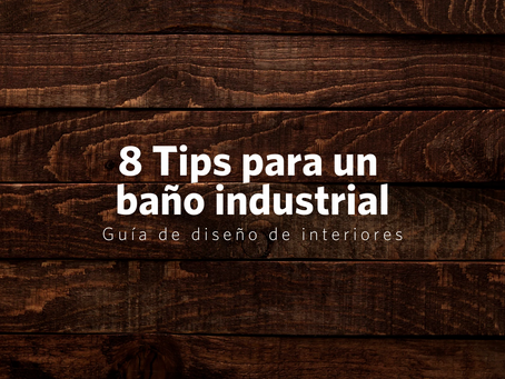 8 tips para lograr un baño de estilo industrial moderno