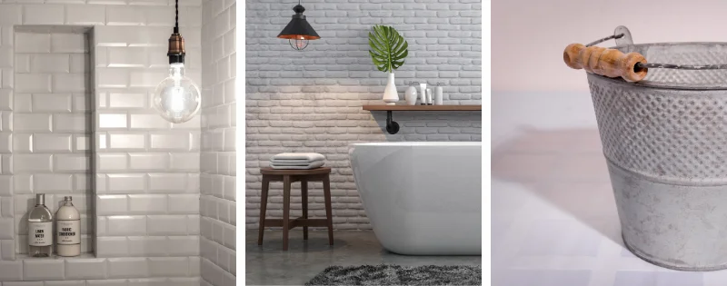 Detalles y decoración baño estilo industrial
