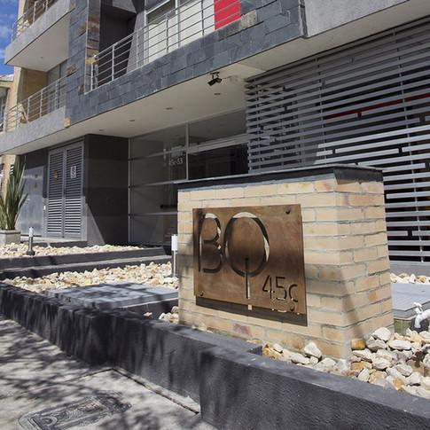 Diseño y construcción edificio BQ 45 exterior