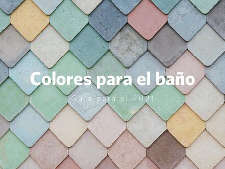 Guía de increíbles colores para baño en el 2021